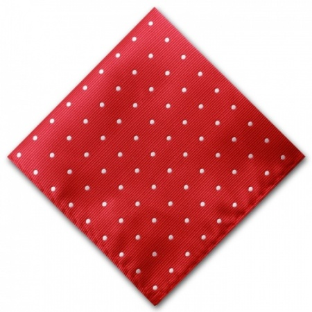 Red Spotted Pocket Square